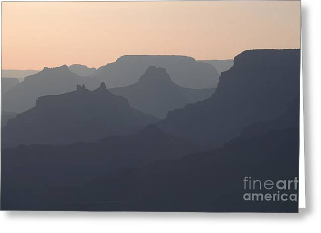 Grand Canyon Pastel Greeting Card by Stan and Anne Foster