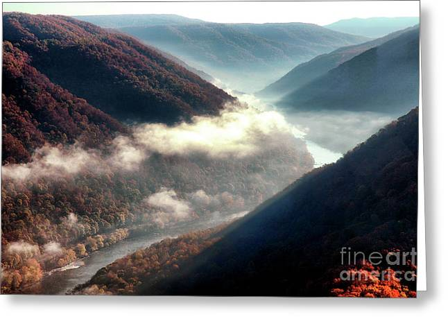 Grandview New River Gorge Greeting Card by Thomas R Fletcher