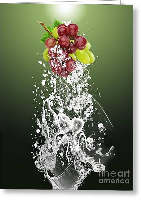 Grape Splash Greeting Card