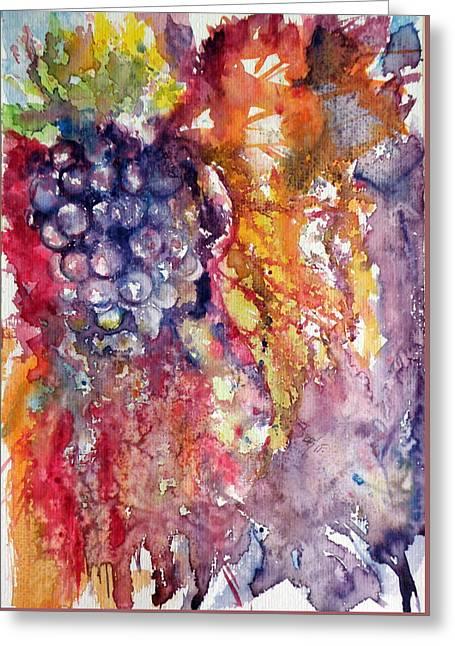 Grapes Greeting Card by Kovacs Anna Brigitta