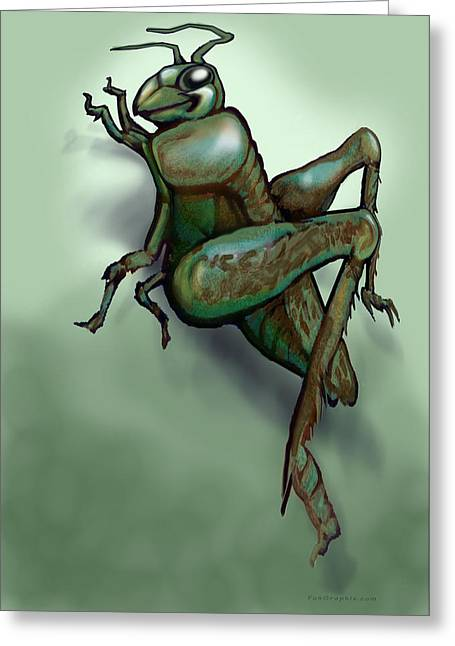 Grasshopper Paintings Greeting Cards - Grasshopper Greeting Card by Kevin Middleton