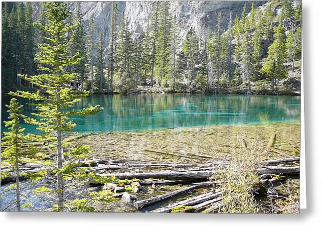 Grassi Lakes Greeting Card by Mark Lehar