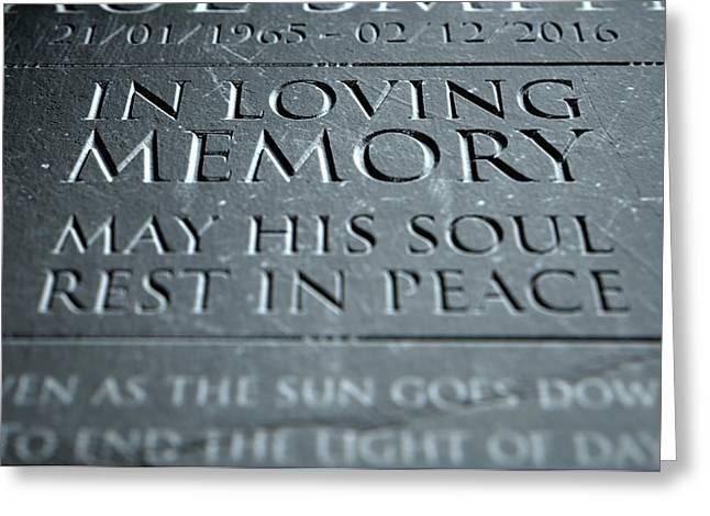 Gravestone In Loving Memory Greeting Card