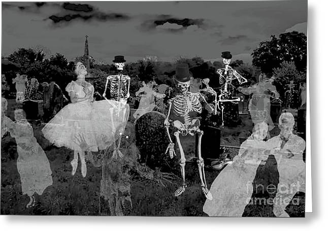 Graveyard Band Greeting Card by Jacqueline Barden