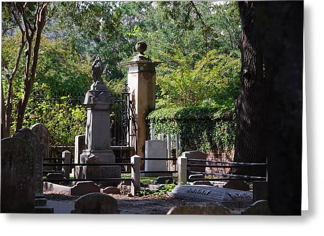 Graveyard In Charleston Greeting Card