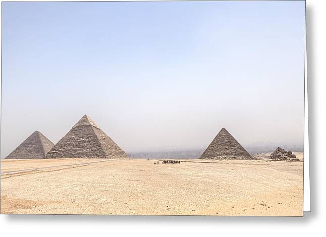Great Pyramids Of Giza - Egypt Greeting Card