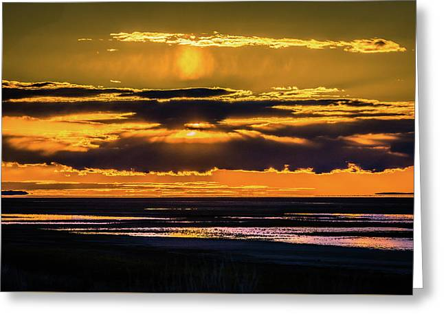 Great Salt Lake Sunset Greeting Card