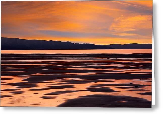 Great Salt Lake Sunset Greeting Card by Utah Images