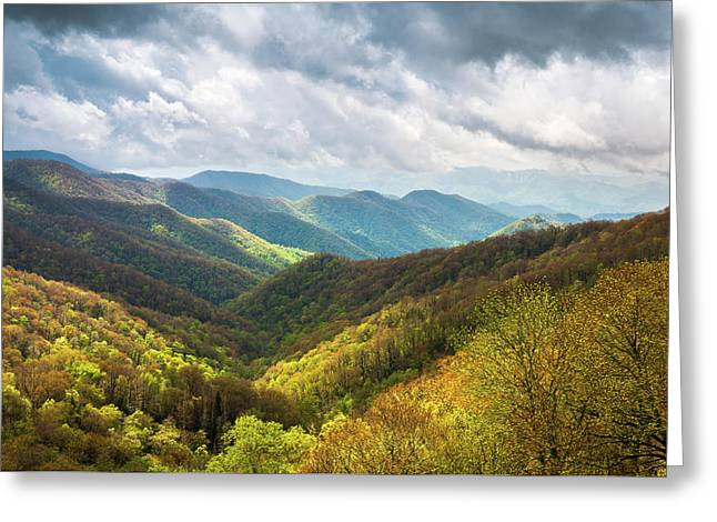 Great Smoky Mountains North Carolina Spring Scenic Landscape Greeting Card