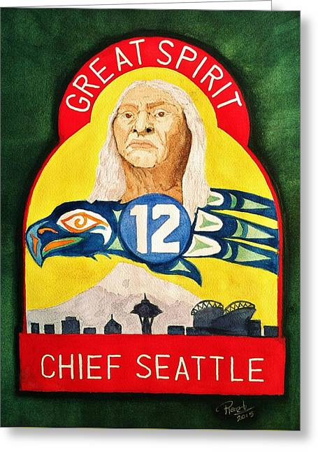Great Spirit Seattle 12s Greeting Card