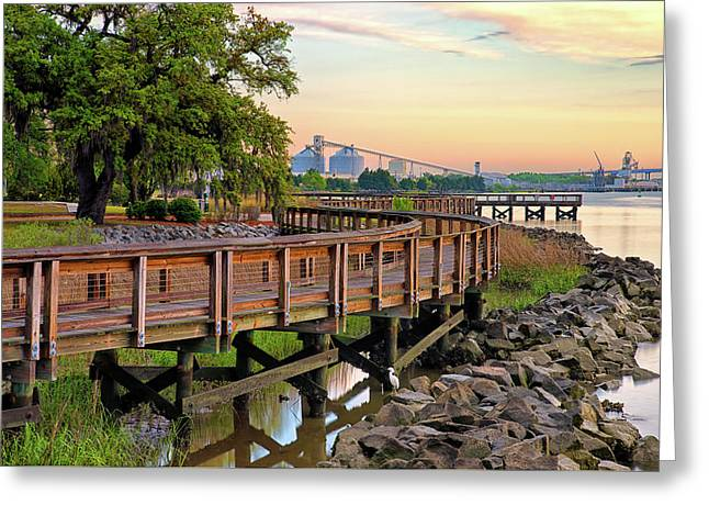 Greater Charleston War Memorial Park Greeting Card by Donnie Smith