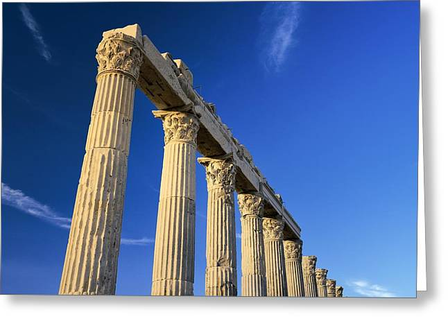 Greek Roman City Of Laodicea. Denizli, Turkey Greeting Card by David Lyons