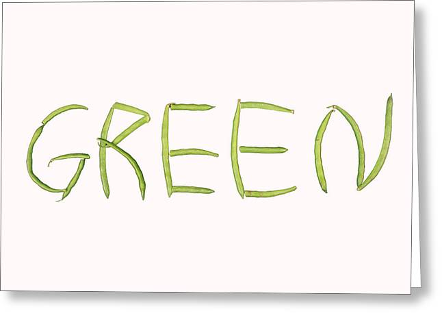 Green Beans Photographs Greeting Cards - Green Greeting Card by James BO  Insogna