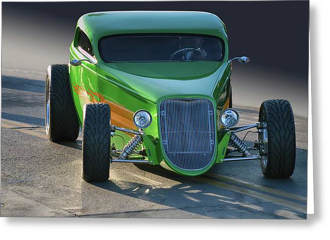 Green Machine Greeting Card by Bill Dutting