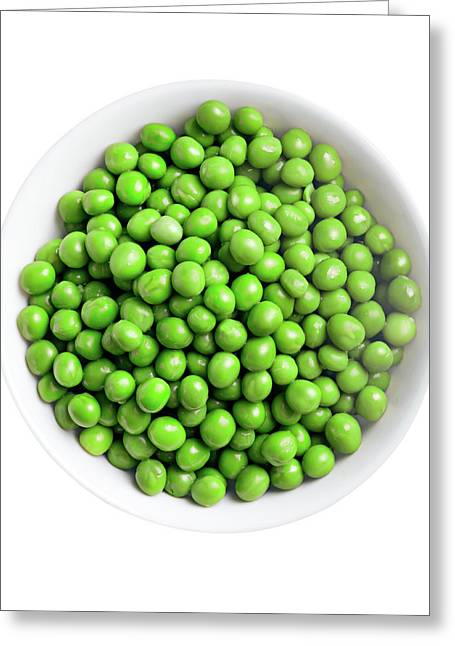 Green Peas In The Bowl Greeting Card