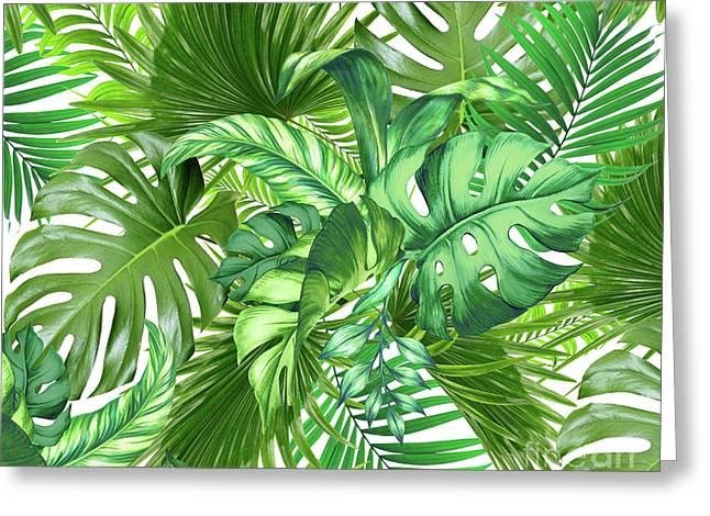 Green Tropic  Greeting Card
