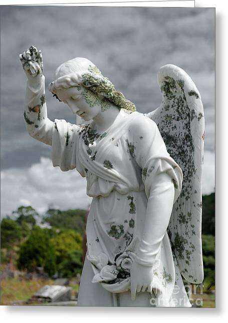Greeting Card featuring the photograph Grieving Angel by Yurix Sardinelly