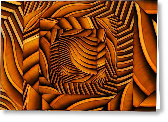 Greeting Card featuring the digital art Groovy by Ron Bissett