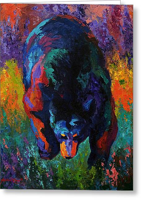 Grounded - Black Bear Greeting Card