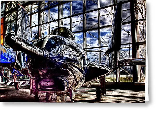 Grumman F9f-8 Cougar Greeting Card by David Patterson