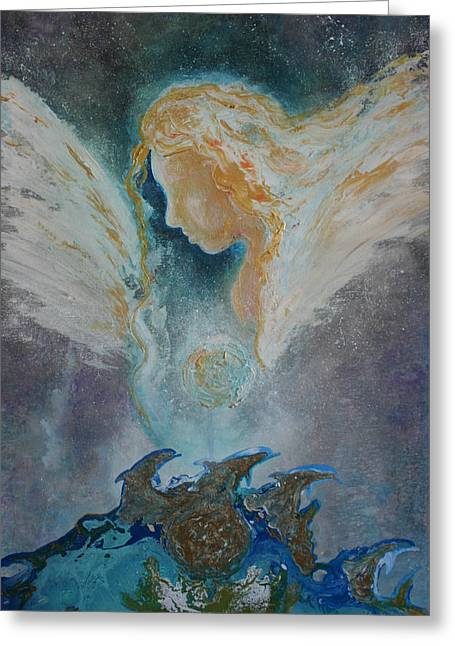 Angelic Encounters  Greeting Card