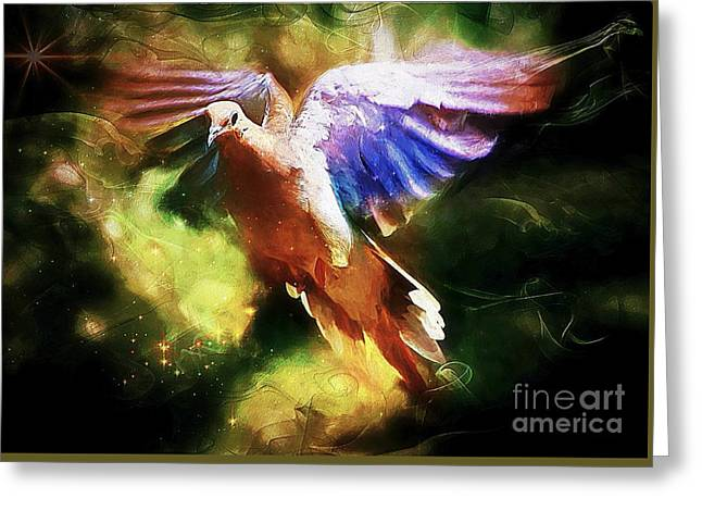 Guardian Angel Greeting Card by Tina  LeCour