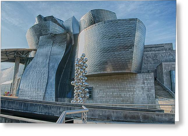 Guggenheim Museum Bilbao Spain Greeting Card by James Hammond