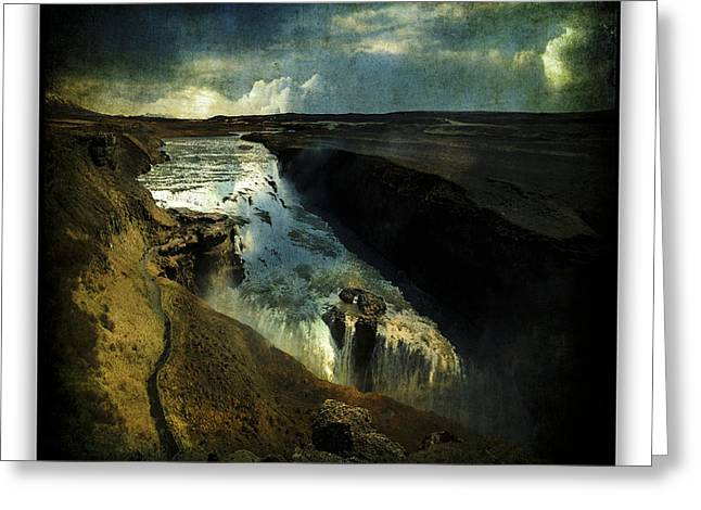 Gullfoss 3 Greeting Card by Ingrid Smith-Johnsen