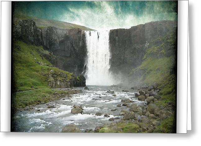 Gullfoss 6 Greeting Card by Ingrid Smith-Johnsen