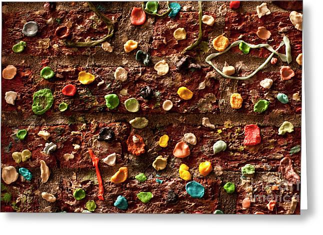 Gum Wall Pike Place Market Greeting Card by Jim Corwin