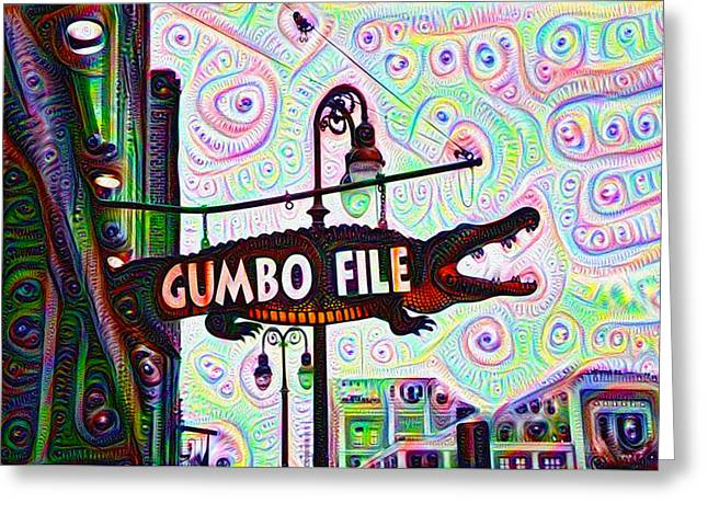 Gumbo File Greeting Card by Bill Cannon
