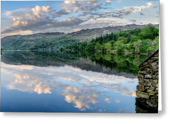 Gwynant Lake  Greeting Card by Adrian Evans