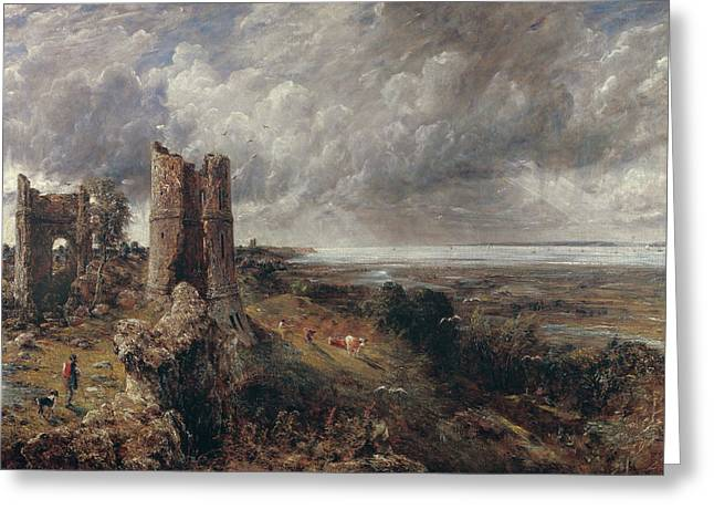 Hadleigh Castle, The Mouth Of The Thames Greeting Card