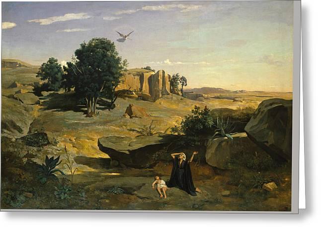 Hagar In The Wilderness Greeting Card
