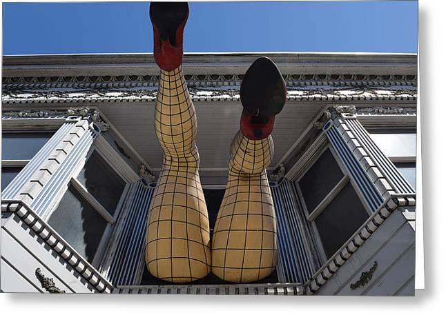 Greeting Card featuring the photograph Haight And Ashbury Legs by Dany Lison