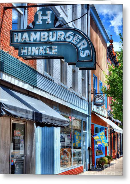 Hamburgers In Indiana Greeting Card by Mel Steinhauer