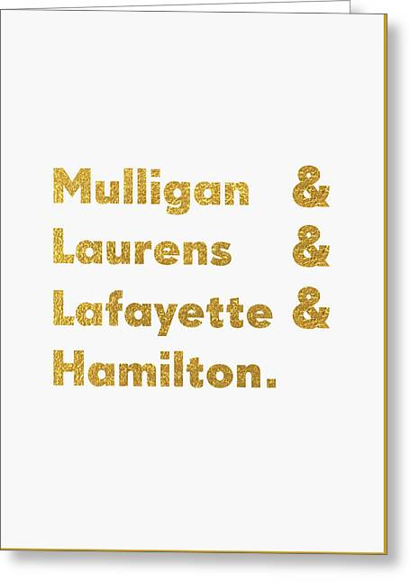 Hamilton Broadway Greeting Card by Semih Yurdabak
