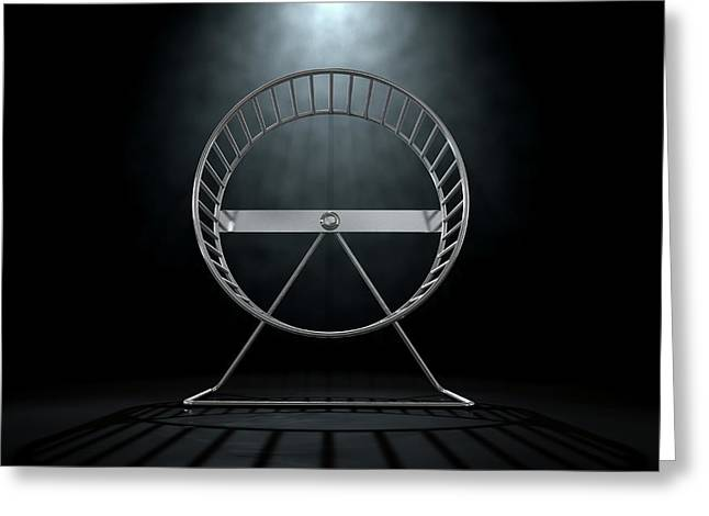 Hamster Wheel Empty Greeting Card