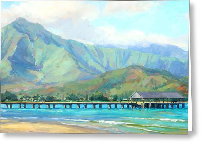 Hanalei Pier Greeting Card