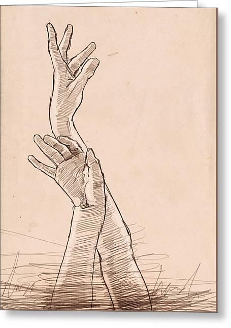 Hand Study Greeting Card
