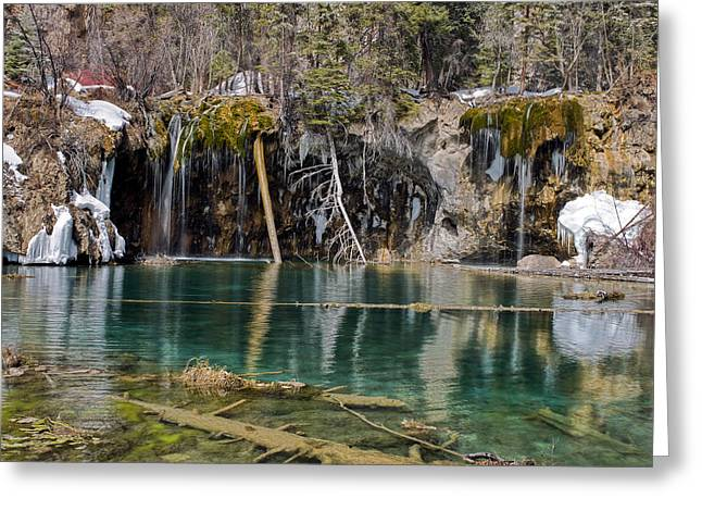 Amazing Greeting Cards - Hanging Lake in Glenwood Canyon Colorado Greeting Card by Brendan Reals