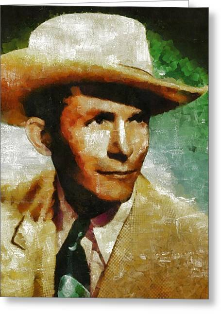 Hank Williams Country Star Greeting Card
