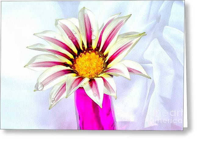 Happy Day Greeting Card by Krissy Katsimbras