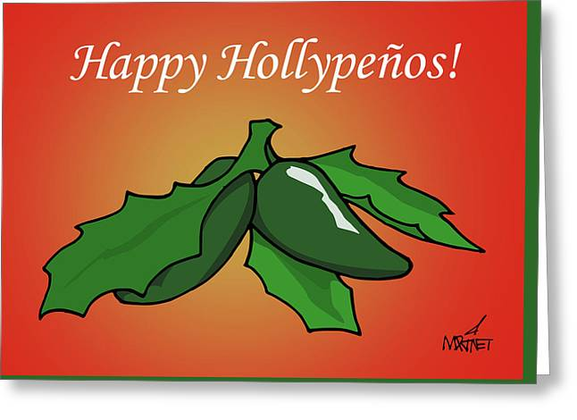 Happy Hollypenos Greeting Card