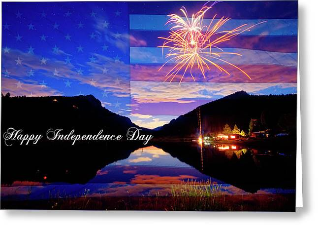 Happy Independence Day Greeting Card by James BO Insogna