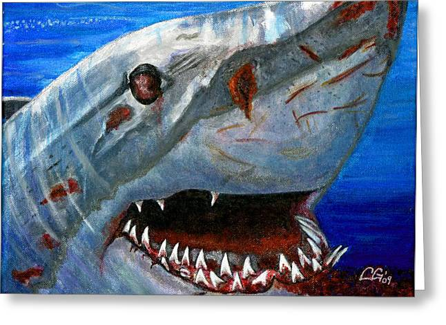 Happy Shark Greeting Card by BlondeRoots Productions