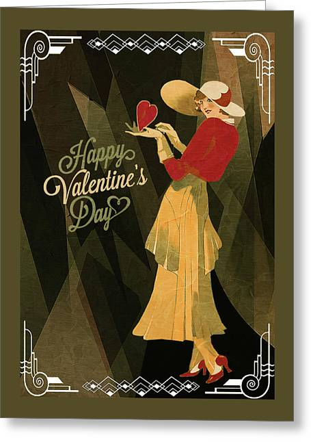 Greeting Card featuring the digital art Happy Valentines Day by Jeff Burgess