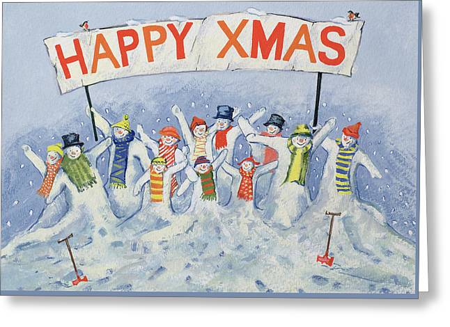 Happy Xmas Greeting Card by David Cooke