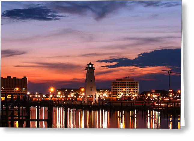 Harbor Lights Greeting Card by Brian Wright