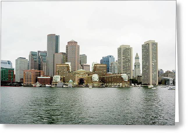 Harbor View Greeting Card by Greg Fortier